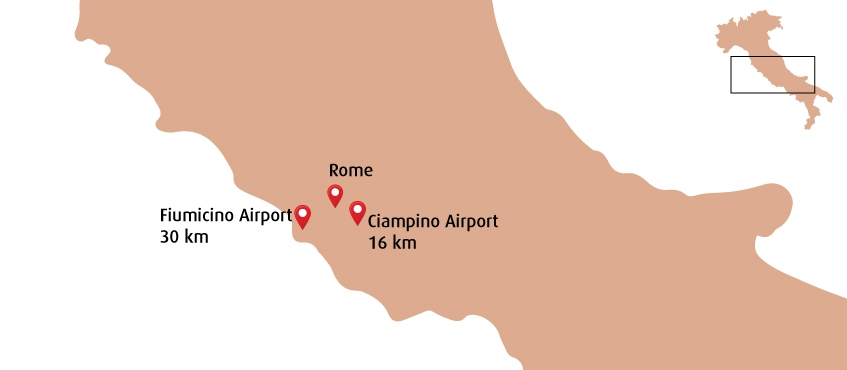 Luchthaven Rome plattegrond