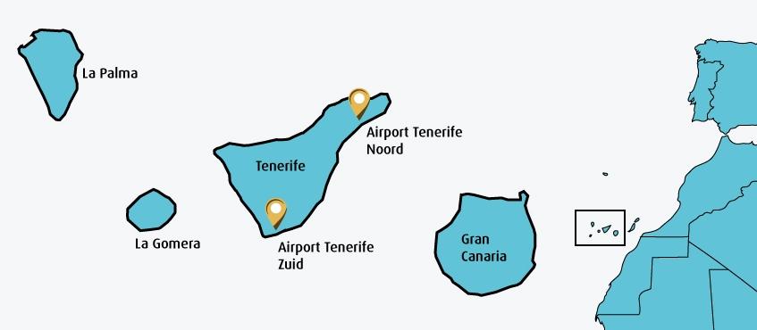 De 2 Vliegvelden Van Tenerife Zuid En Noord